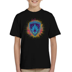 Marvel Guardians Of The Galaxy Paint Splatter Badge Kid's T-Shirt - POD66