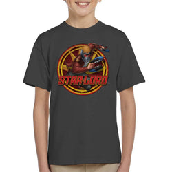 Marvel Guardians Of The Galaxy Star Lord Action Kid's T-Shirt - POD66
