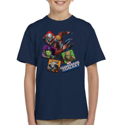 Marvel Guardians Of The Galaxy Comic Characters Kid's T-Shirt - POD66