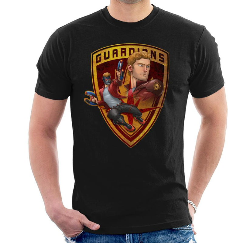 Marvel Guardians Of The Galaxy Star Lord Badge Men's T-Shirt - POD66