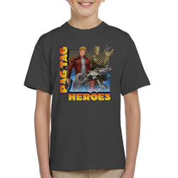 Marvel Guardians Of The Galaxy Rag Tag Heroes Kid's T-Shirt - POD66