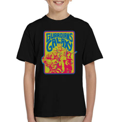 Marvel Guardians Of The Galaxy Retro 70s Kid's T-Shirt - POD66