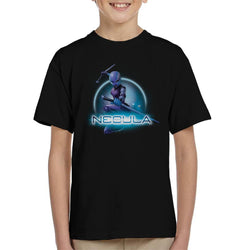 Marvel Guardians Of The Galaxy Nebula Batons Pose Kid's T-Shirt - POD66