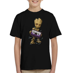 Marvel Guardians Of The Galaxy Groot Cassette Tape Kid's T-Shirt