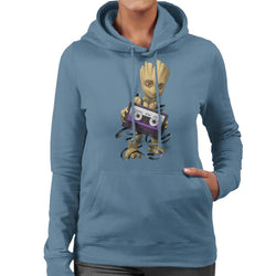 Marvel Guardians Of The Galaxy Groot Cassette Tape Women's Hooded Sweatshirt