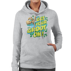 Marvel Guardians Of The Galaxy Cute Get Your Groot On Women's Hooded Sweatshirt