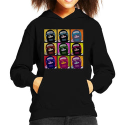 Motorsport Images Damon Hill Portuguese GP Helmet Pop Art Kid's Hooded Sweatshirt - POD66