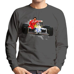 Motorsport Images Nelson Piquet Honda Gives Alain Prost A Lift German GP Men's Sweatshirt - POD66