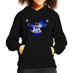 Motorsport Images Damon Hill Celebrating Win At Japan Grand Prix Kid's Hooded Sweatshirt - POD66