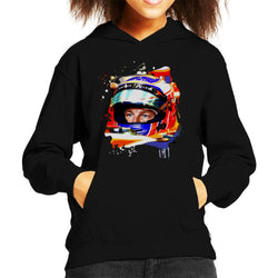 Motorsport Images Jenson Button McLaren MCL32 Honda Monaco Helmet Shot Kid's Hooded Sweatshirt - POD66