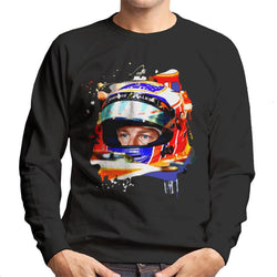 Motorsport Images Jenson Button McLaren MCL32 Honda Monaco Helmet Shot Men's Sweatshirt - POD66