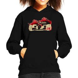Motorsport Images Ayrton Senna McLaren MP46 Portuguese GP Negative Kid's Hooded Sweatshirt - POD66