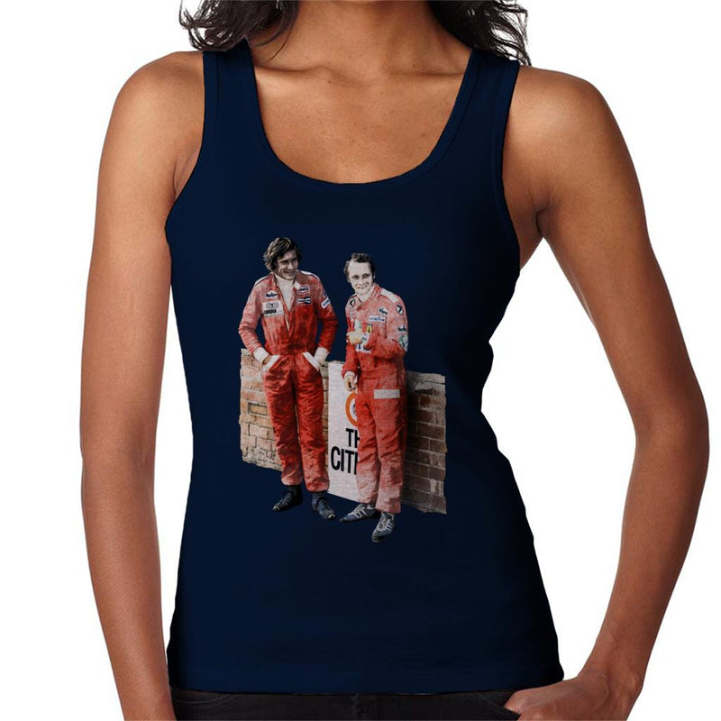 Motorsport Images James Hunt & Niki Lauda South African GP 1976 Women's Vest - POD66