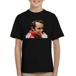 Motorsport Images Niki Lauda German GP 1976 Glitch Effect Kid's T-Shirt - POD66