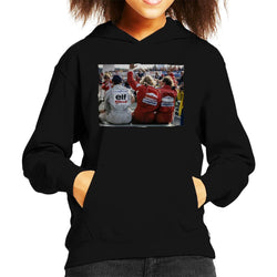 Motorsport Images Jody Scheckter James Hunt & Jochen Mass Kid's Hooded Sweatshirt - POD66