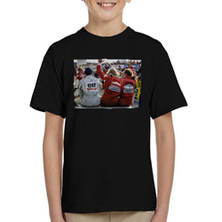 Motorsport Images Jody Scheckter James Hunt & Jochen Mass Kid's T-Shirt - POD66