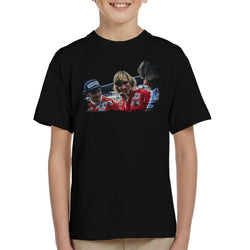 Motorsport Images Niki Lauda James Hunt & Barry Sheene Kid's T-Shirt - POD66