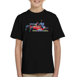 Motorsport Images Niki Lauda 312T2 Mechanic Lift Kid's T-Shirt - POD66