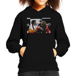 Motorsport Images James Hunt Podium Interview Kid's Hooded Sweatshirt - POD66
