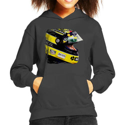 Motorsport Images Aryton Senna At Suzaka Japanese GP Kid's Hooded Sweatshirt - POD66