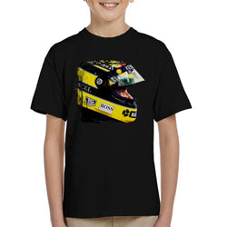 Motorsport Images Aryton Senna At Suzaka Japanese GP Kid's T-Shirt - POD66