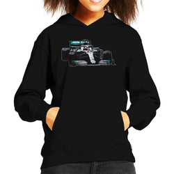 Motorsport Images Lewis Hamilton AMG F1 W10 Monaco GP Kid's Hooded Sweatshirt - POD66