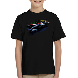 Motorsport Images Lewis Hamilton At Monaco GP AMG F1 W10 Kid's T-Shirt - POD66