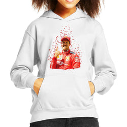 Motorsport Images Sebastian Vettel Pole Position Victory Canadian GP Kid's Hooded Sweatshirt - POD66
