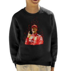 Motorsport Images Sebastian Vettel Pole Position Victory Canadian GP Kid's Sweatshirt - POD66