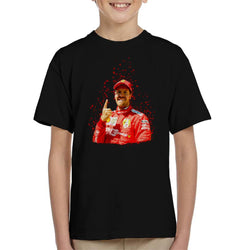 Motorsport Images Sebastian Vettel Pole Position Victory Canadian GP Kid's T-Shirt - POD66