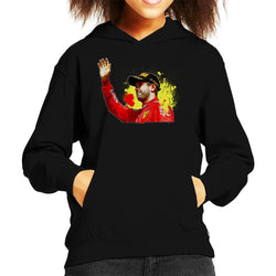 Motorsport Images Sebastian Vettel Podium Celebration Canadian GP Kid's Hooded Sweatshirt - POD66