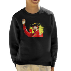 Motorsport Images Sebastian Vettel Podium Celebration Canadian GP Kid's Sweatshirt - POD66