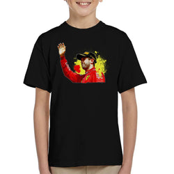 Motorsport Images Sebastian Vettel Podium Celebration Canadian GP Kid's T-Shirt - POD66