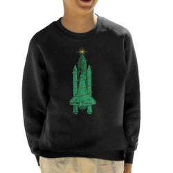 NASA Challenger Shuttle Christmas Tree Kid's Sweatshirt - POD66