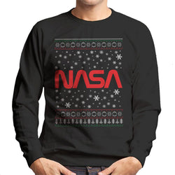 The NASA 1975-1992 Logo Christmas Knit Pattern Men's Sweatshirt - POD66