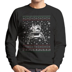 NASA Apollo Lunar Module Christmas Knit Pattern Men's Sweatshirt - POD66