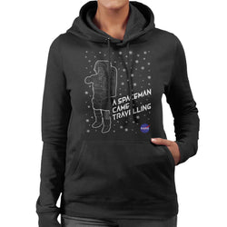 NASA Christmas A Spaceman Came Travelling Women's Hooded Sweatshirt - POD66