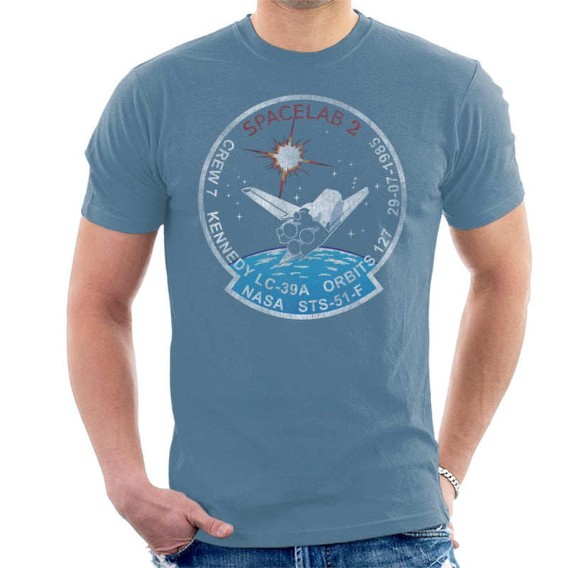 NASA STS 51 F Challenger Mission Badge Distressed Men's T-Shirt - POD66