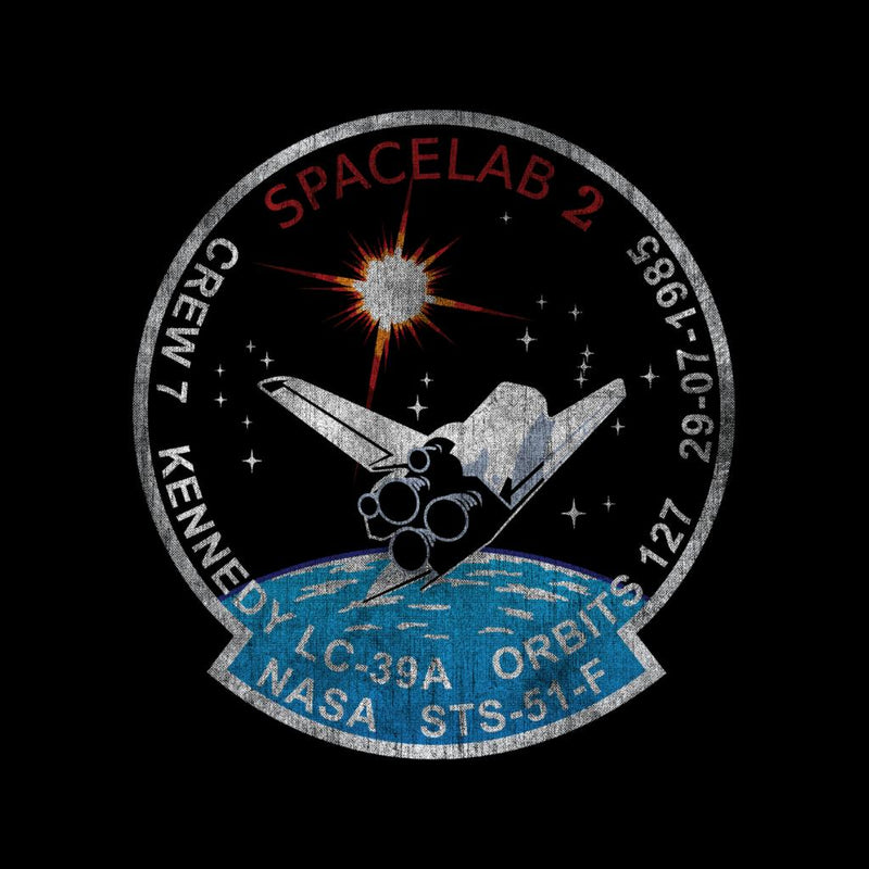 NASA STS 51 F Challenger Mission Badge Distressed - POD66