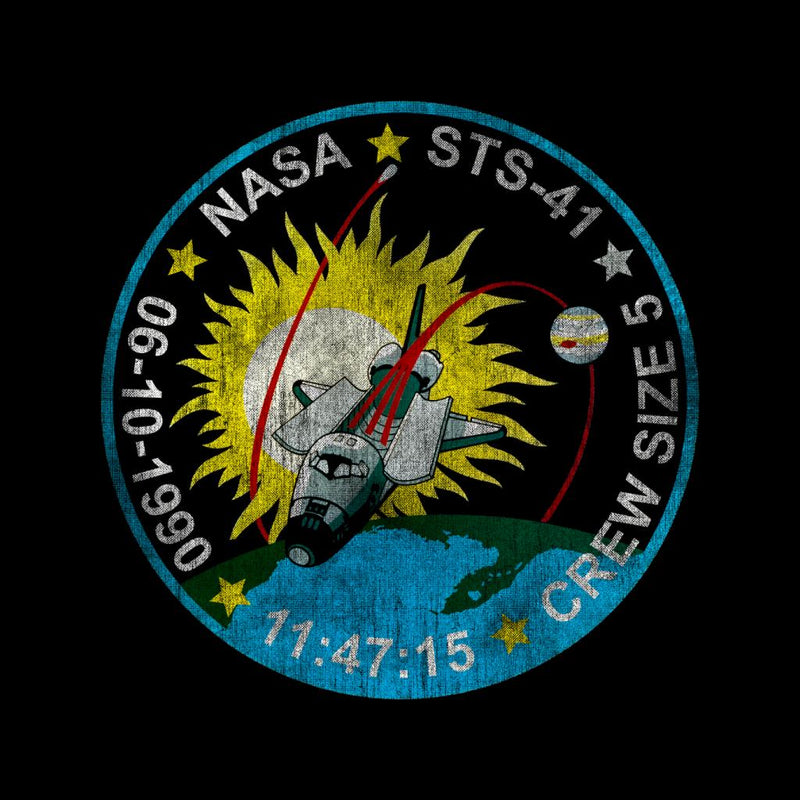 NASA STS 41 Discovery Mission Badge Distressed - POD66