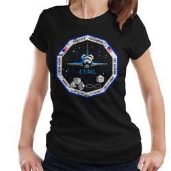 NASA STS 73 Columbia Mission Badge Distressed Women's T-Shirt - POD66
