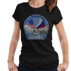 NASA STS 79 Atlantis Mission Badge Distressed Women's T-Shirt - POD66