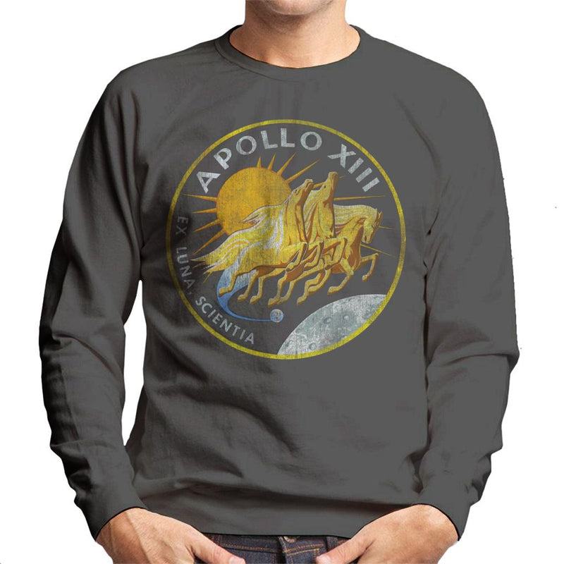 NASA Apollo 13 Mission Badge Distressed Men's Sweatshirt - POD66