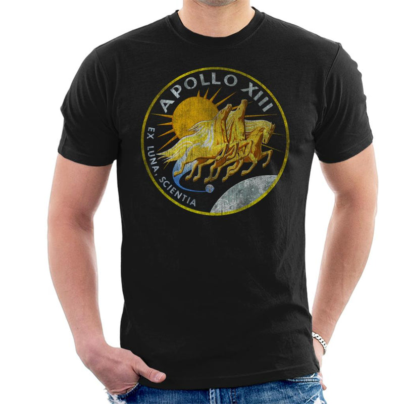 NASA Apollo 13 Mission Badge Distressed Men's T-Shirt - POD66