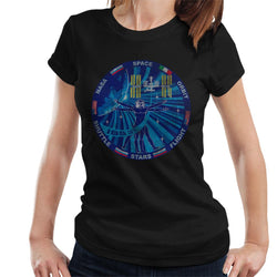 NASA ISS Expedition 37 Mission Badge Distressed Women's T-Shirt - POD66