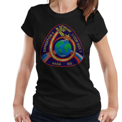 NASA ISS Expedition 6 STS 113 Mission Badge Distressed Women's T-Shirt - POD66