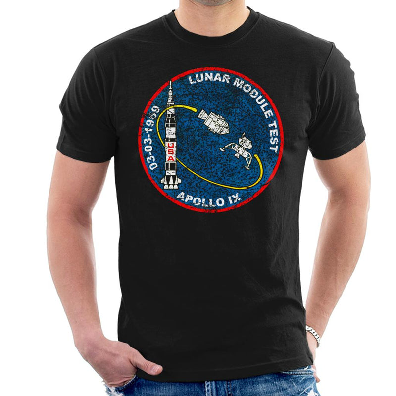 NASA Apollo 9 Mission Badge Distressed Men's T-Shirt - POD66