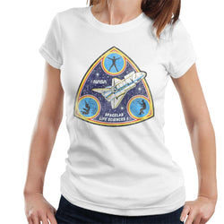 NASA Spacelab Life Sciences 1 Mission Badge Distressed Women's T-Shirt - POD66