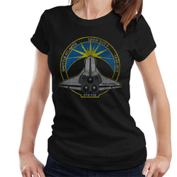 NASA STS 132 Atlantis Mission Badge Distressed Women's T-Shirt - POD66
