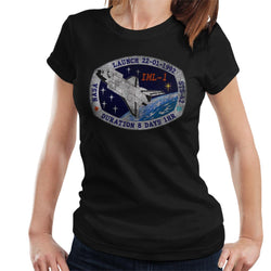 NASA STS 42 Discovery Mission Badge Distressed Women's T-Shirt - POD66